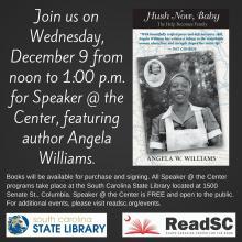 Angela Williams speaker @ the Center graphic