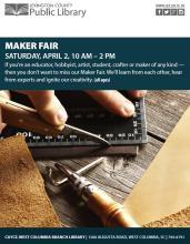 Lexington Library to Host Maker Fair