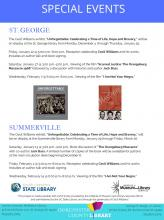 image of flyer for events in dorchester relating to the cecil williams exhibit