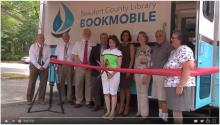 beaufort library bookmobile ribbon cutting