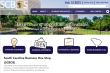 SCBOS Website screen shot
