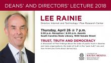 Deans' and Directors' Lecture 2018