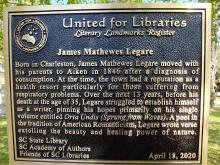 United for Libraries Literary Landmark Register plaque