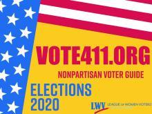 VOTE411 sign