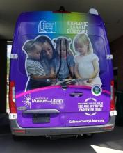 Photo of the back of the bookmobile.