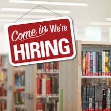 hiring sign at a library