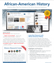 African-American History database flyer