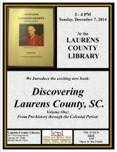 discovering laurens county book event
