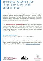 Emergency Response for Flood Survivors with Disabilities poster