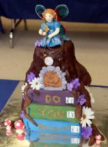cake decorated like books