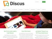 screenshot of new discus website