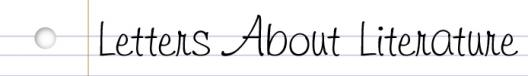 letters about literature logo