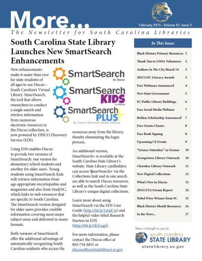 More newsletter cover