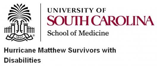Survey: Hurricane Matthew Survivors with Disabilities