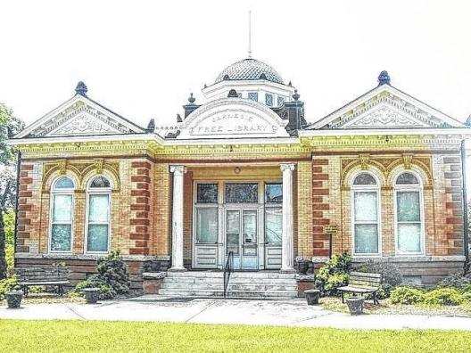 front of union county carnegie library
