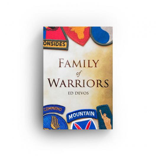 book cover for family of warriors by ed devos