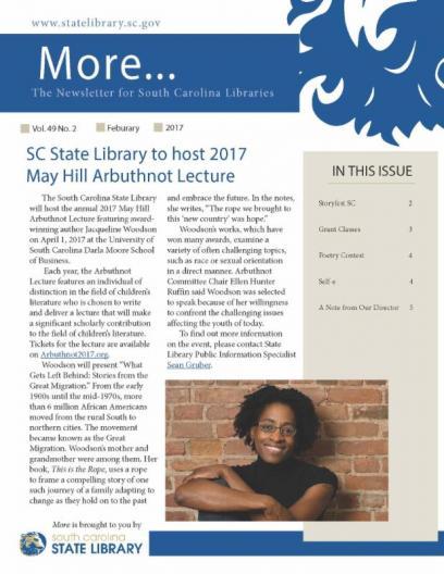 February 2017 MORE Newsletter cover image