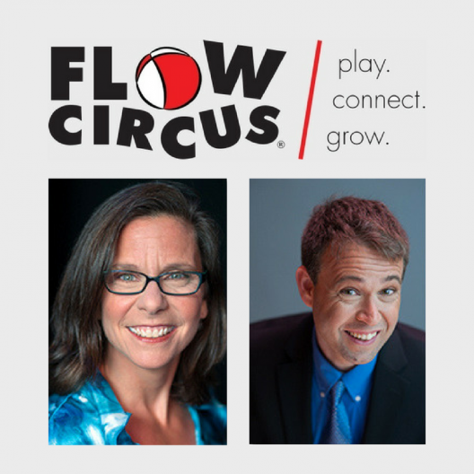 flow circus logo with photos
