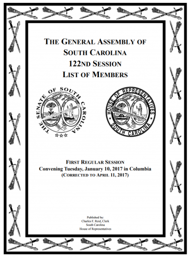 cover image of The General Assembly of South Carolina 122nd Session List of Members