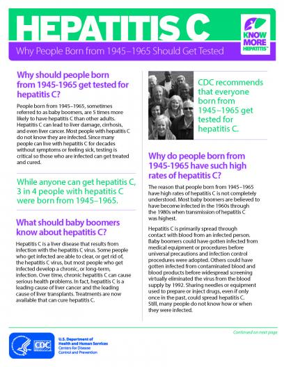 Hep C pamphlet image
