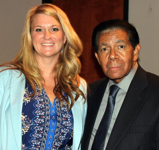State Library Director Leesa Aiken with Civil Rights Photographer Cecil Williams