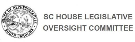 SC House Legislative Oversight Committee Logo