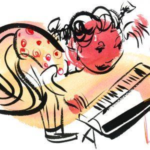 brian pinckney artwork titled keyboard girl