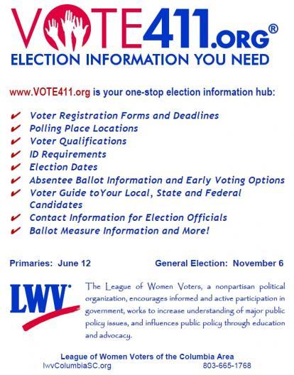 Vote411 dot org website poster