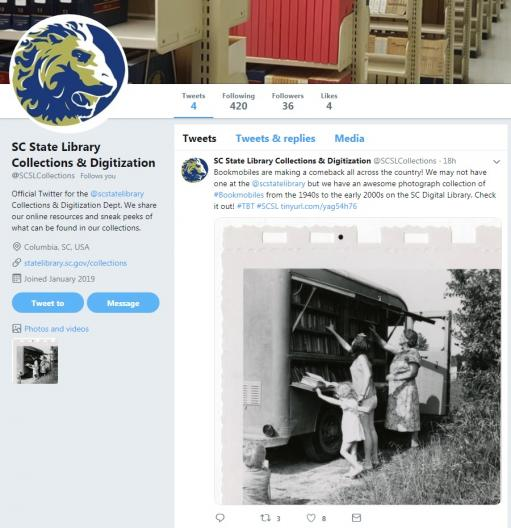 SCSL Collections Twitter Account screenshot