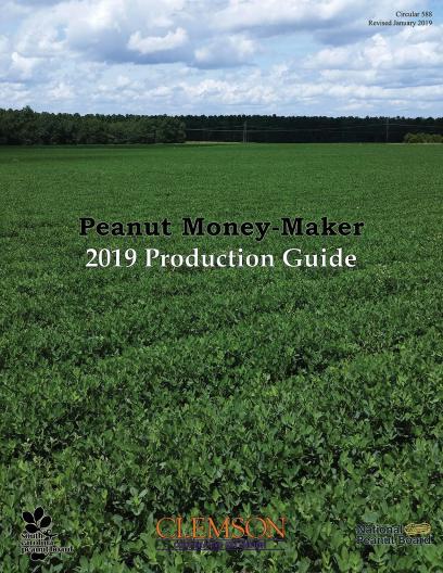 CLEMSON Peanut Money Maker 2019 production guide cover image of peanut field