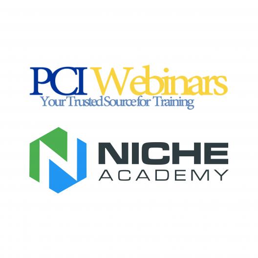 PCI Webinars and Niche Academy logos