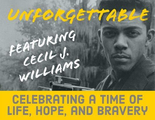 Unforgettable book cover by cecil williams