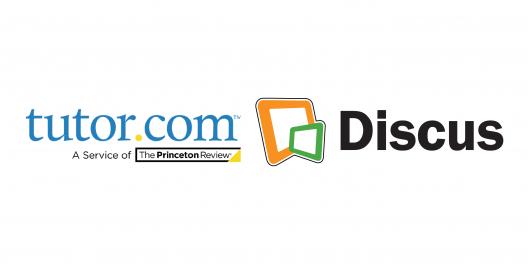tutor.com and Discus logos