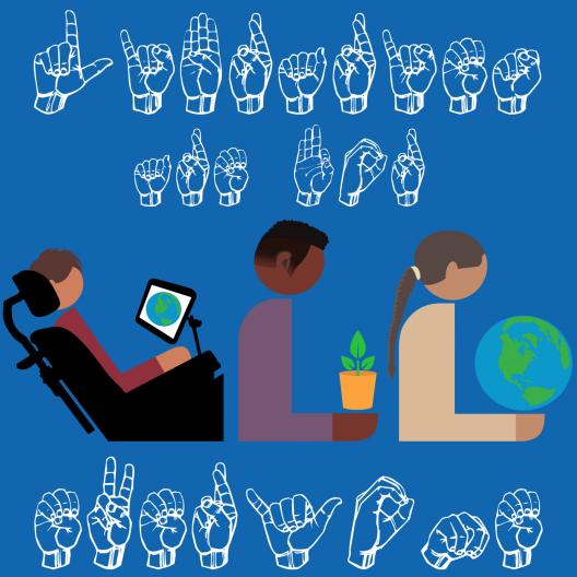 hands doing letters in sign language