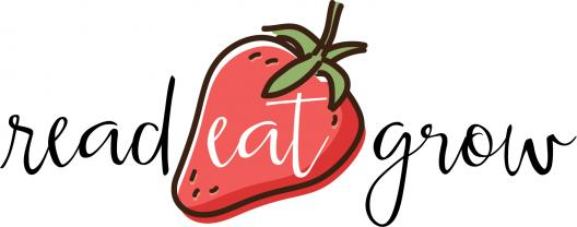 read eat grow logo with red strawberry